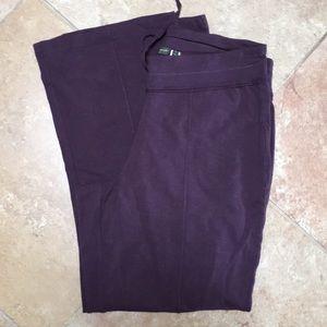 Eggplant color leisure pants NWOT Eddie Bauer sz1X